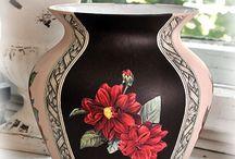 Вазы, кувшины, сосуды, фужеры / декупаж, роспись, декорирование ваз, кувшинов, сосудов