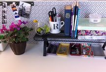 Lolo's Desk / Ideas to transform Lauren's bland/boring cubicle space.