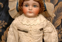Bisque Dolls / A bisque doll or porcelain doll is a doll made partially or wholly out of bisque porcelain. Bisque dolls are characterized by their realistic, skin-like matte finish. http://www.wonderfinds.com/s/Dolls-Bears/Dolls/Antique-%28Pre-1930%29/Bisque