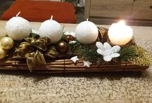 Adventní svícen - Advent candlestick