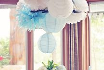 Light blue, baby blue wedding decoration