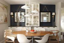 Salas de estar e jantar / Ideias de decoração de salas de jantar e estar