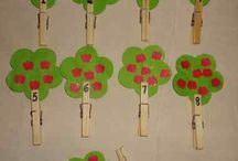 tarjetas matemática de preescolar