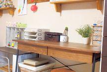 机、キッチン