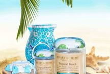 Summer Living / Heart & Home summer fragrances - candles, votives, tealights, waxmelts and accessories for the home.