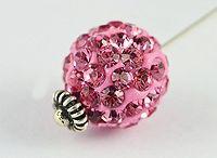 Crystal Clay Round Beads / Dark blue Rhinestones, crystals, cubic zirconia shimbala round beads Disco Ball high quality, shiny round sparkle beads