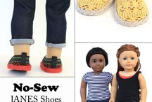 JANES Shoes for Dolls / Liberty Jane JANES Doll Shoes - designed to fit 18 inch American Girl Dolls, 18 Inch Journey Girls Dolls, 13-14 inch Hearts for Hearts Girls & Corelle Les Cheries, Maplelea & Karito Kids Dols. PDF sewing pattern - make your own doll shoes today!