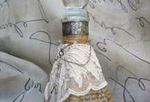 vintage bottles / by EllyMay Quintana