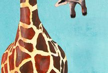 Giraffes / Inspiration board