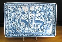 hand painted porcelain, ceramic Azulejo