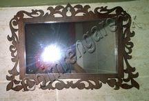 Ahşap Çerçeveli Ayna - Timber-Framed Mirror