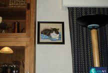 Geschilderde portretten van dieren / We maken geschilderde portretten van dieren in opdracht