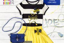 Kolekcja I LOVE SHOES / Żółto - granatowa propozycja dla dziewczynek z kolekcji I LOVE SHOES