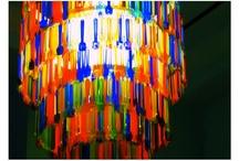 lamparas hechas con cucharitas