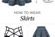 How to wear skirts