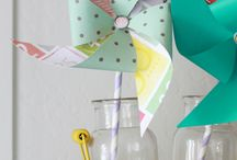 Paper Summer Projects / Sunny and bright paper decor for summertime!