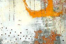 Oil, acrylic - abstract