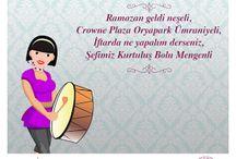 Ramazan Crowne Plaza Oryapark'ta bir başka güzel!