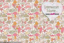Frühling - Stoffe / Eine bunte Sammlung an frühlingshaften Designs, die in keinem Stoff Schrank fehlen sollten :-)