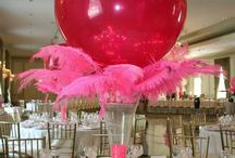 floral and balloon centre pieces