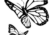 Stencils (Flowers and insects) / *the original designs are not mine