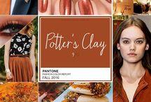 Pantone Potter's Clay trend fiori autunno-inverno 2016 / Composizioni floreali con colori tendenza 2016 Pantone autunno-inverno Potter's Clay