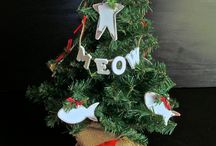 Dog/Cat country rustic table top christmas tree / celebrate the season with your 4 legged love!