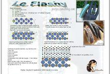 korálky - šité - různé techniky / šité šperky
