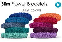 Bracelets à fleurs