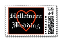 Halloween Wedding Postage Stamps / Fun Halloween postage stamp ideas for mailing all of your Halloween wedding stationery.    Your Halloween wedding invitations, RSVPs, and Thank You cards will stand out in a crowded mailbox.  Choose from kooky, creepy, fun custom and personalized postage stamps perfect for your special Halloween wedding.