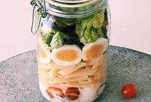 kl.Gerichte und snacks für die Mittagspause zum mitnehmen