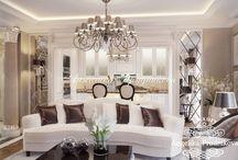 Дизайн квартиры в стиле современная классика в Зеленограде / Дизайн-проект для данной квартиры в Зеленограде выполнен студией Анжелики Прудниковой. Интерьер разработан в стиле современная классика и объединил в себе красоту, статность и уют. Элементы декора придают квартире элегантность и дополняют общий замысел. Светлая мягкая мебель увеличивает пространство комнаты и наполняет её светом.