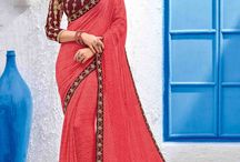 2670 Maaya2 Party Wear Saree / All the Fashionable women will surely like to step out in style wearing this pink color Georgette saree. this gorgeous saree featuring a beautiful mix of designs. look gorgeous at an upcoming any occasion wearing the saree.