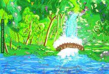 Рисунки мои Даша / Картина эскиз, краски, ватман и кисть