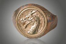 Mokume Men's Jewelry & Accessories / Striking custom Men's Jewelry by James Binnion Metal Arts http://www.mokume-gane.com.