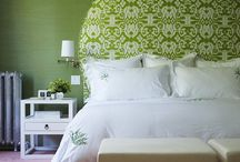 Bedrooms / Stylish bedrooms, colorful decorative pillows