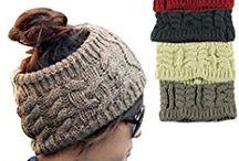 Faixa de cabelo de tricô