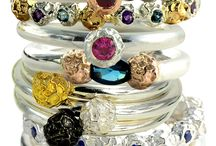 My work / All my work is individually handmade from Eco-gold and silver, as well as precious and semi-precious stones