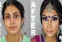 Before and after makeup meraki