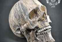 Hand Carved Sculpture Tamarind Wood into Realistic Human Skull THB06 / Find this skull on Etsy..!!