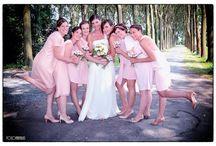 bruidsmeisjes en bruidsjonkers - huwelijksreportage / Bruidsfotografie - bruidsmeisjes en bruidsjonkers