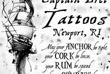 NAUTICAL - Tattoo Pictures by Tattoos by Captain Bret & Celtic Tattoo / Nautical Tattoos, Salty Ocean Themed Tattooing, Anchors, Ships, Fish, Whales, Sharks! Tall SHIPS, Pirates, anything on or underneath the water styled Tattoos