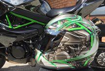 Kawasaki H2 Customised Arai / Customised Arai helmet for Kawasaki H2