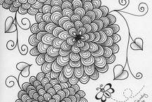My Zentangle Artwork / My own Zentangle and doodle drawings.