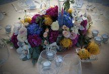 Acrylic Beach Wedding- Naples / Flower arrangements and decor by Grace Lakes Florist in Naples.