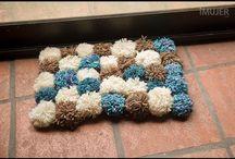 alfombras de pompones