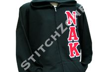 Nu Alpha Kappa Fraternity  / Zip-up Sweatshirts, Lined Jackets , Stoles, and much more
