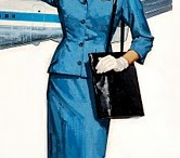 Vintage Airlines / A collection of vintage advertising and illustration celebrating Stewardesses, airplanes, and the Golden age of flying
