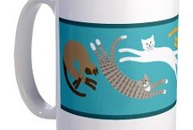 doggies and kitties / happy little designs of doggies and kitties
