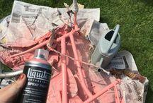 Bike / I painted my old bike in pale pink Barbie